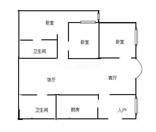 胜利街学区房 江油一中对面 火炮街 华丽广场 精装三室双卫 家具家电齐全 可按揭